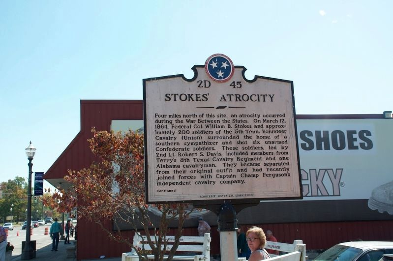 Stokes' Atrocity Marker (side 1) image. Click for full size.