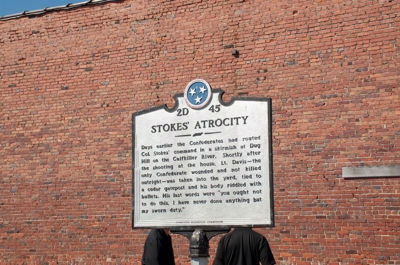 Stokes' Atrocity Marker (side 2) image. Click for full size.