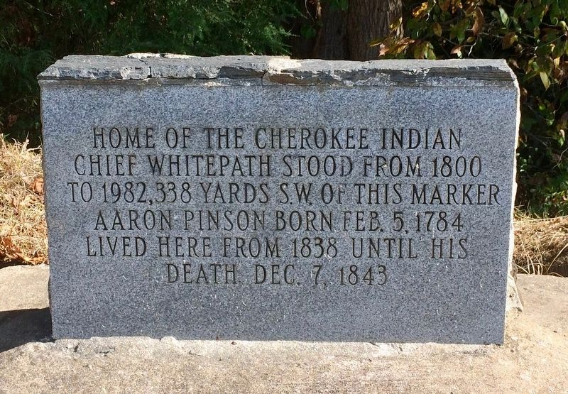 Home of Chief Whitepath Marker image. Click for full size.