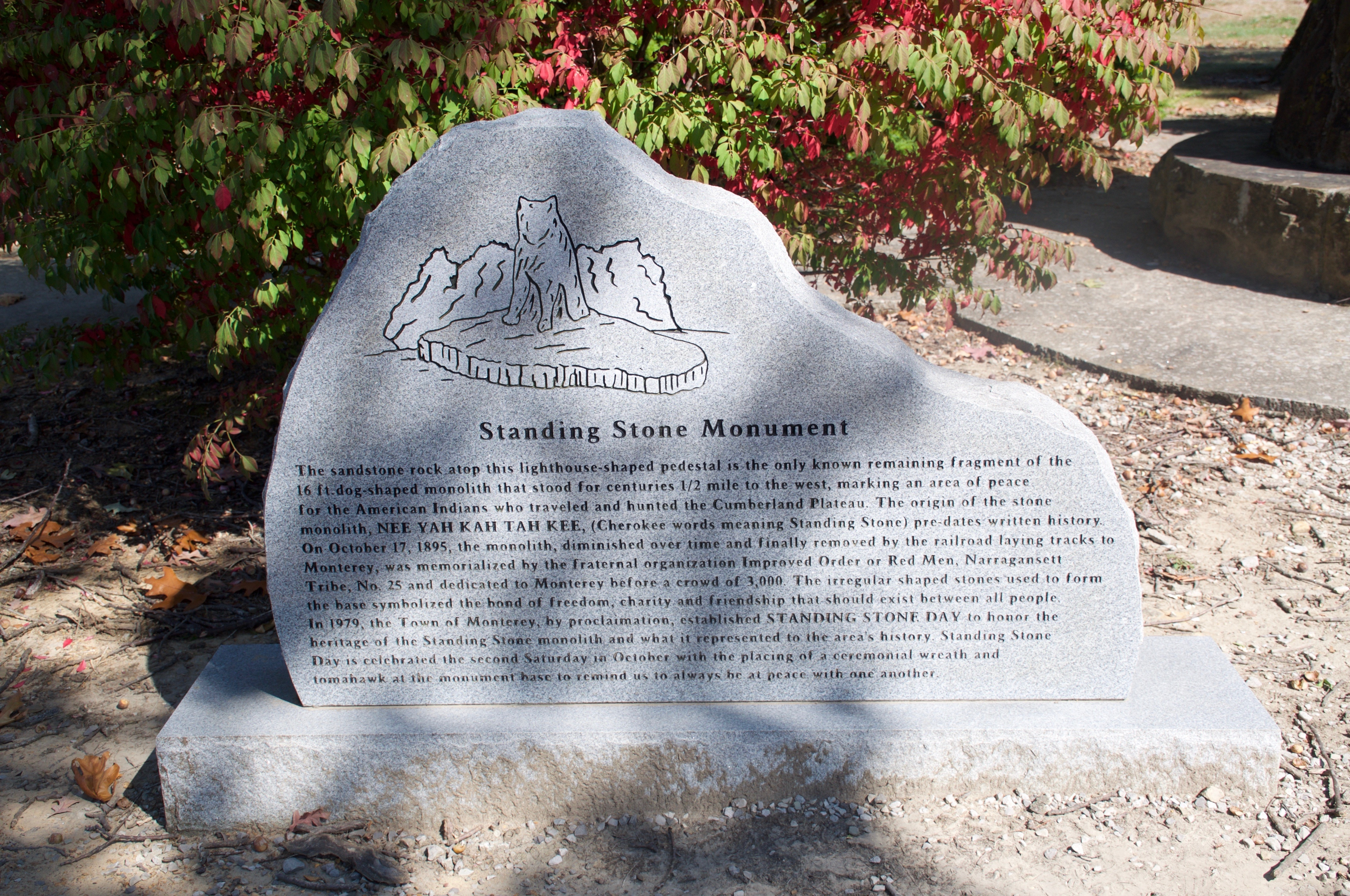 Standing Stone Monument Marker