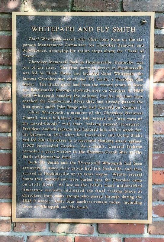 Tablet about Chief Whitepath & Fly Smith. image. Click for full size.