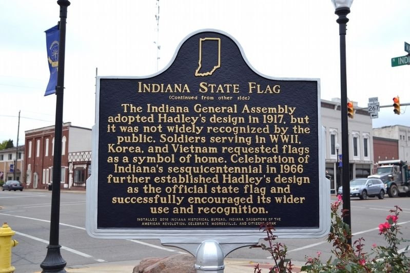 Indiana State Flag Marker image. Click for full size.