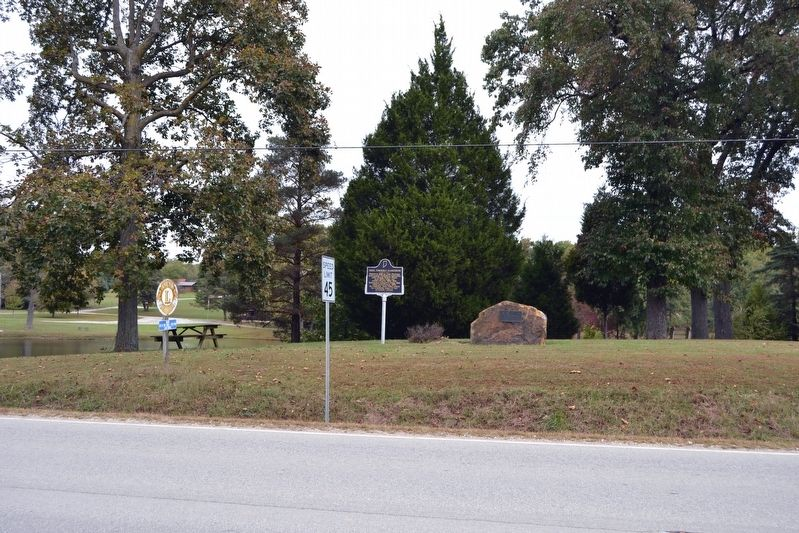Odon, Formerly Clarksburg Marker image. Click for full size.