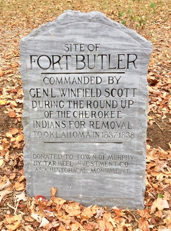 Site of Fort Butler Marker image. Click for full size.