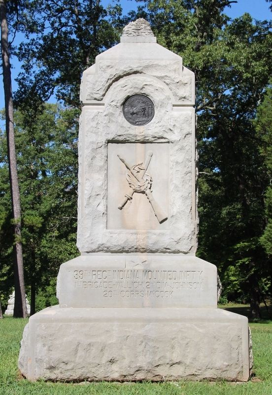 39th Indiana Mounted Infantry Marker image. Click for full size.