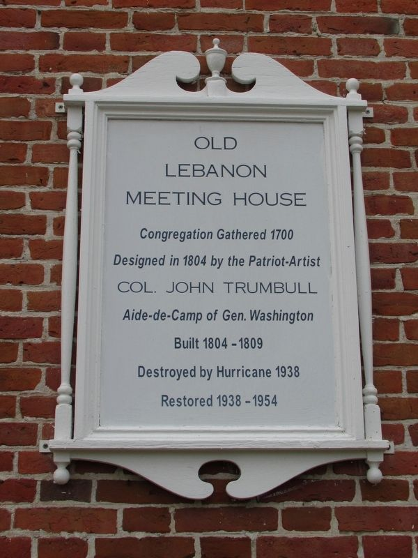 Old Lebanon Meeting House Marker image. Click for full size.