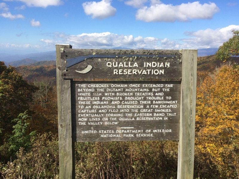 Qualla Indian Reservation Marker image. Click for full size.