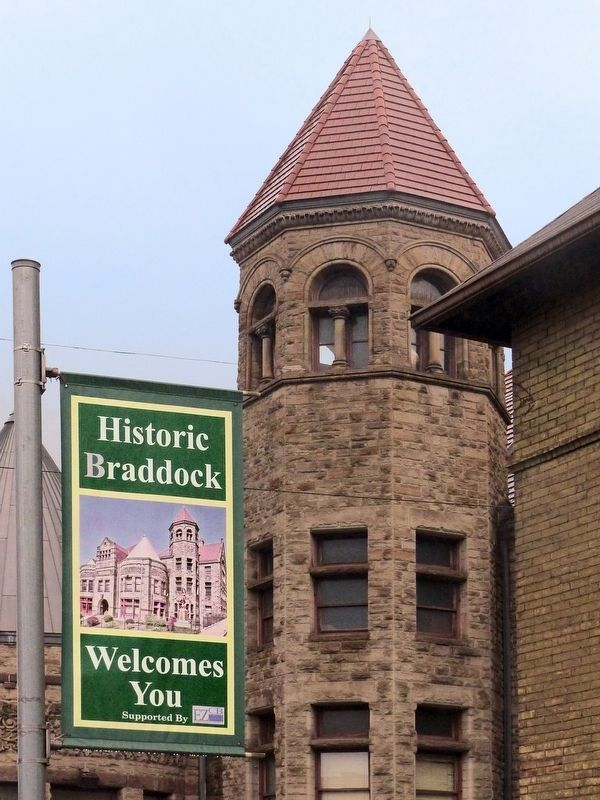 Carnegie Library<br>Historic Braddock Welcomes You image. Click for full size.