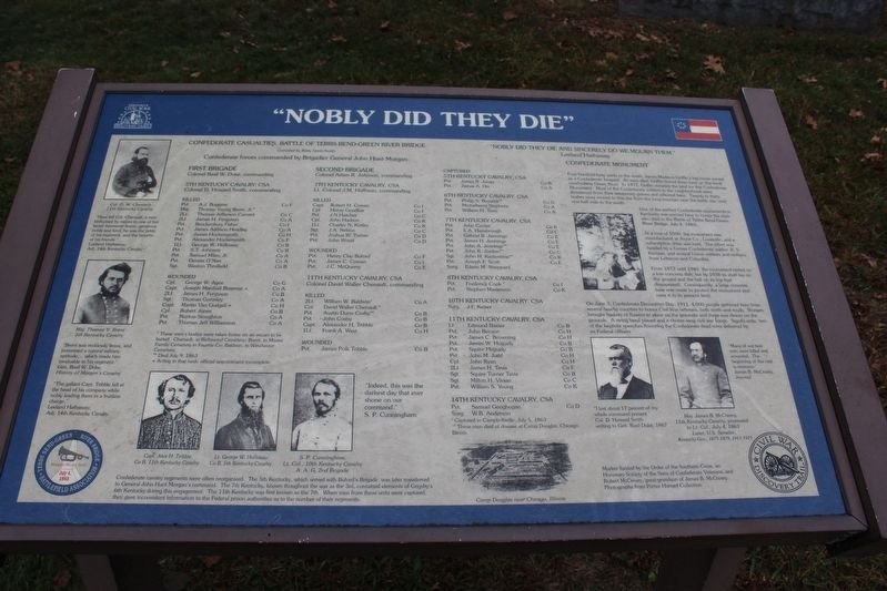 """Nobly Did They Die"" Marker image. Click for full size."