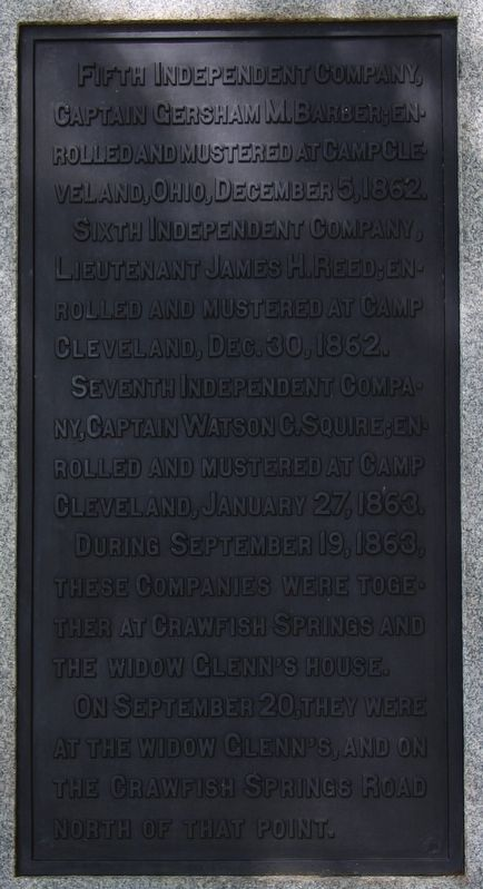 1st Battalion, Ohio Sharpshooters Marker image. Click for full size.