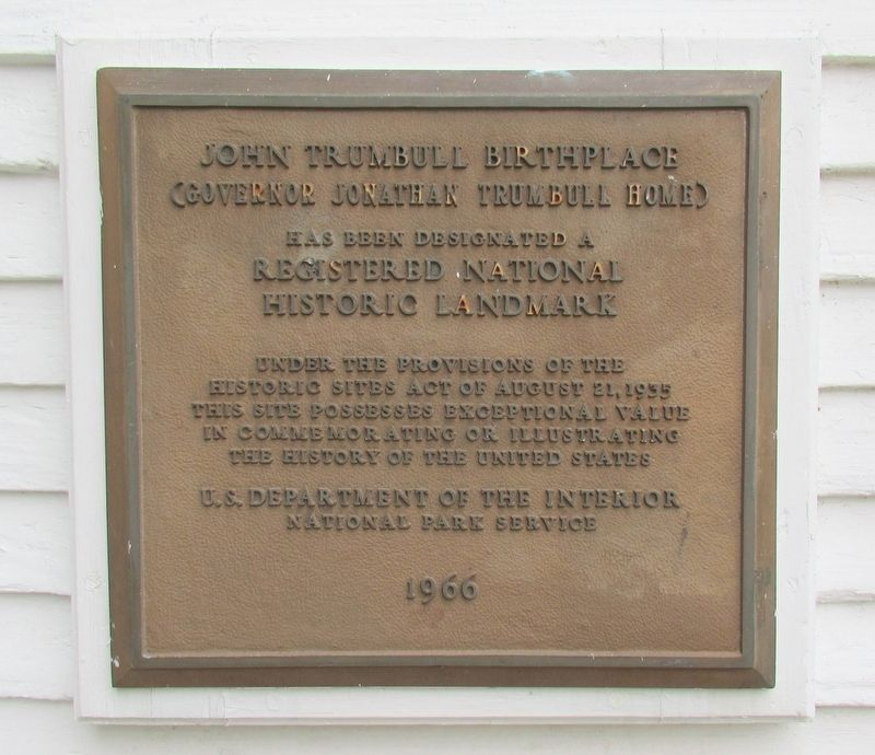 John Trumbull Birthplace Marker image. Click for full size.