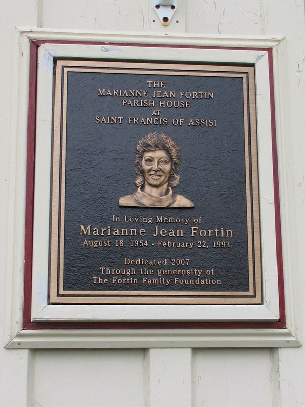 Marianne Jean Fortin Parish House Marker image. Click for full size.