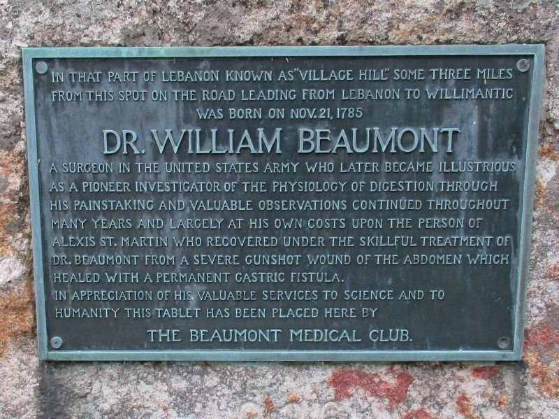 Dr. William Beaumont Marker image. Click for full size.