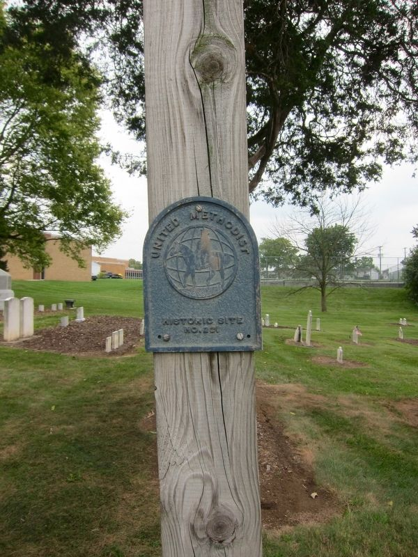 The Shopp Cemetery is United Methodist Church Historic Site No. 221. image. Click for full size.