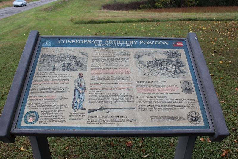 Confederate Artillery Position Marker image. Click for full size.