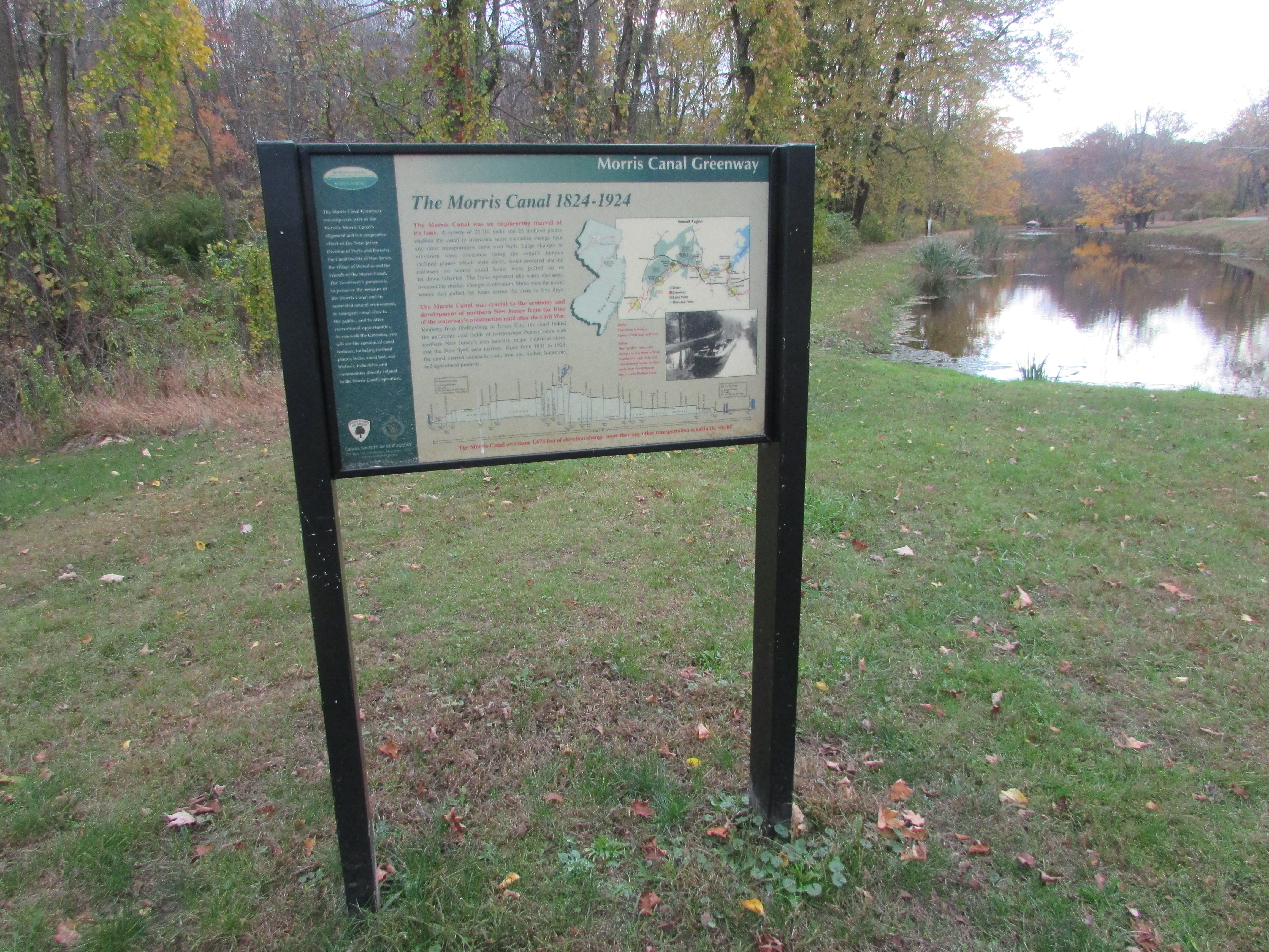 The Morris Canal 1824-1924 Marker