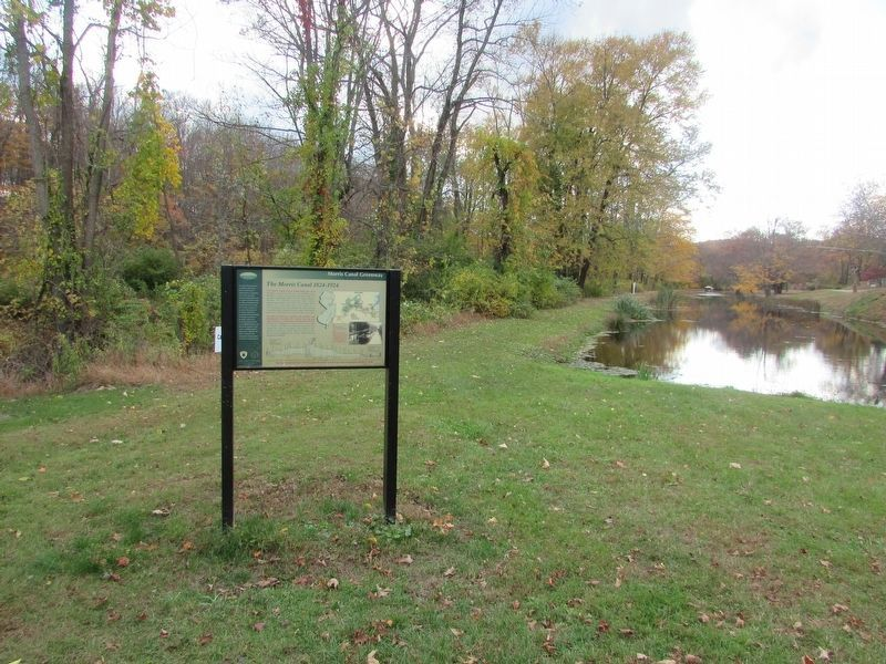 Marker on the Morris Canal image. Click for full size.