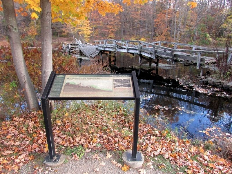 The Morris Canal Inclined Planes Marker image. Click for full size.