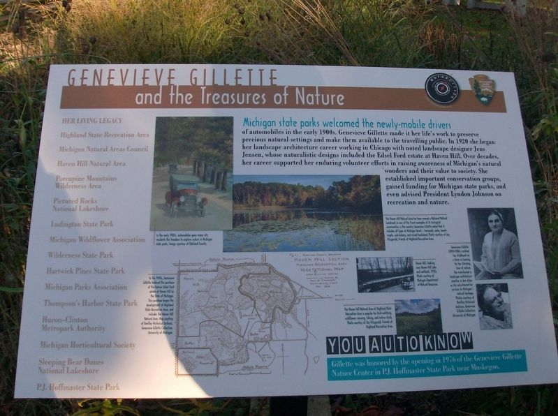 Genevieve Gillette and the Treasures of Nature Marker image. Click for full size.