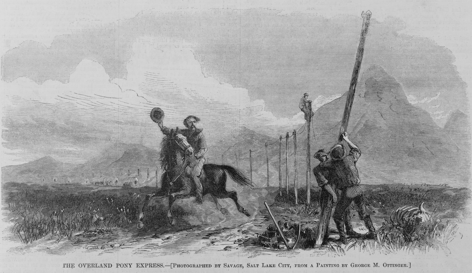 The Overland Pony Express image. Click for full size.
