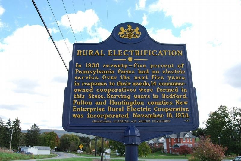 Rural Electrification Marker image. Click for full size.