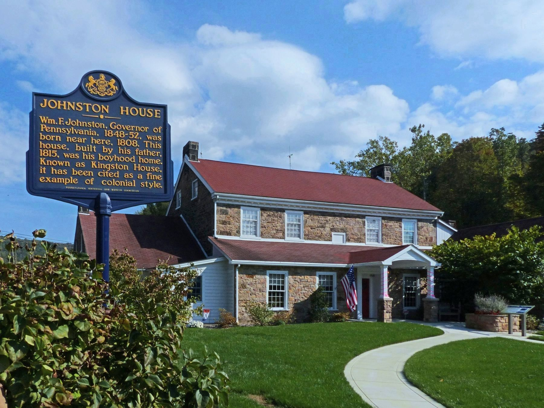 Johnston House Marker image. Click for full size.