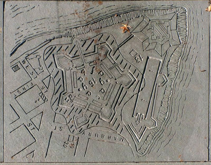 Map of Fort Pitt image. Click for full size.