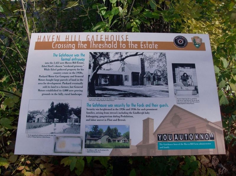 Haven Hill Gatehouse: Crossing the Threshold to the Estate Marker image. Click for full size.