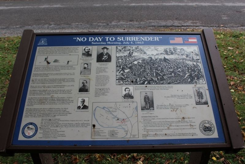 """No Day to Surrender"" Marker image. Click for full size."