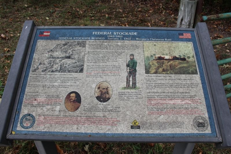 Federal Stockade Marker image. Click for full size.