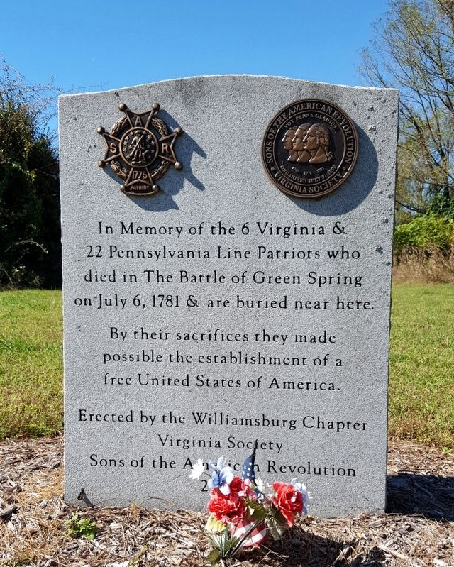 Battle of Green Spring Memorial image. Click for full size.