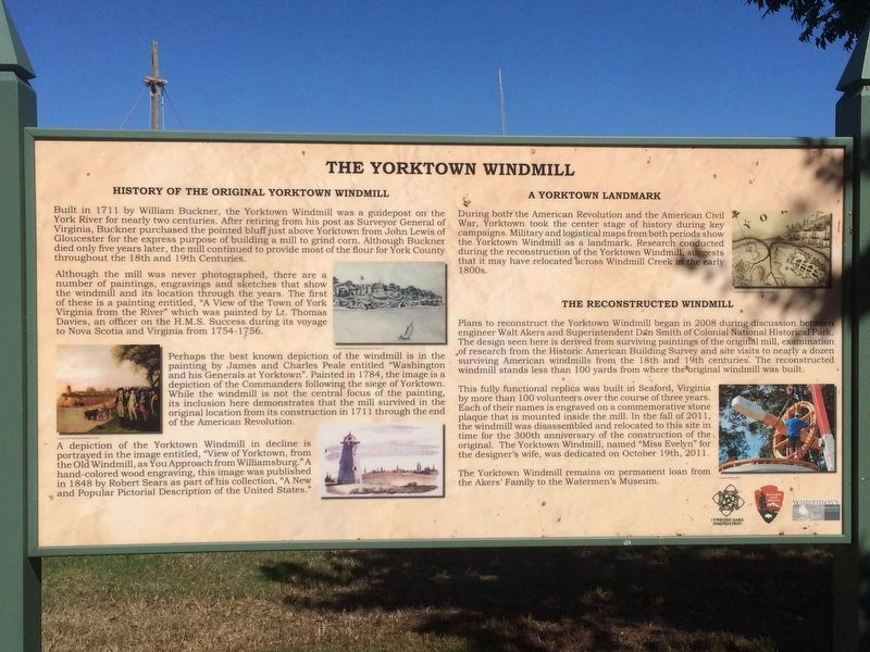 The Yorktown Windmill Marker image. Click for full size.