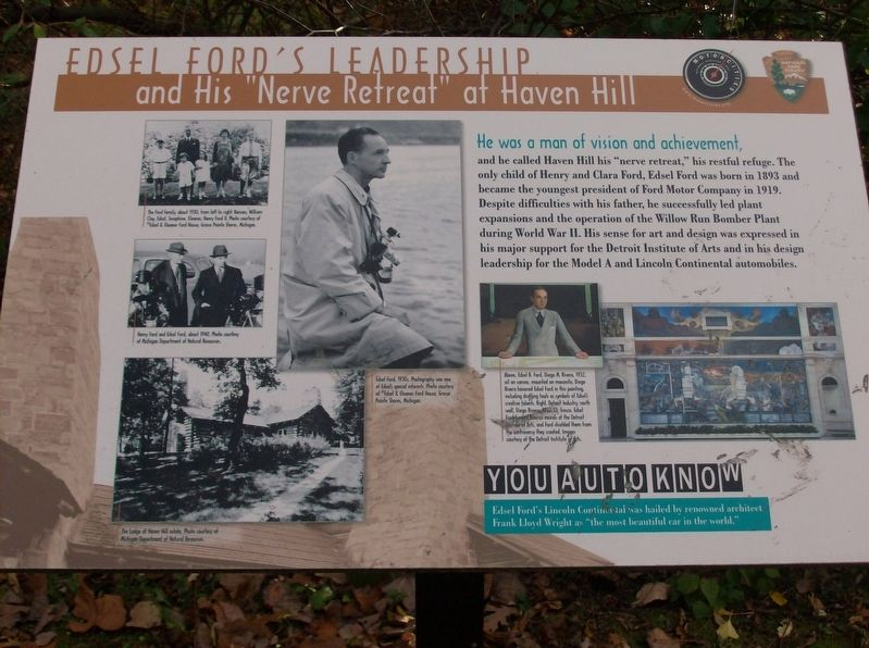 Edsel Ford's Leadership Marker image. Click for full size.