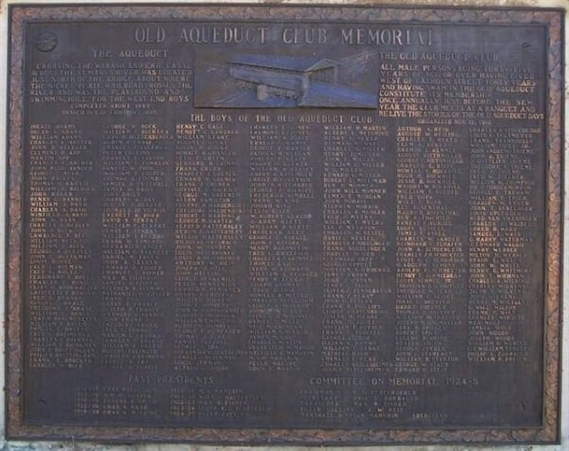 Old Aqueduct Club Memorial Marker image. Click for full size.