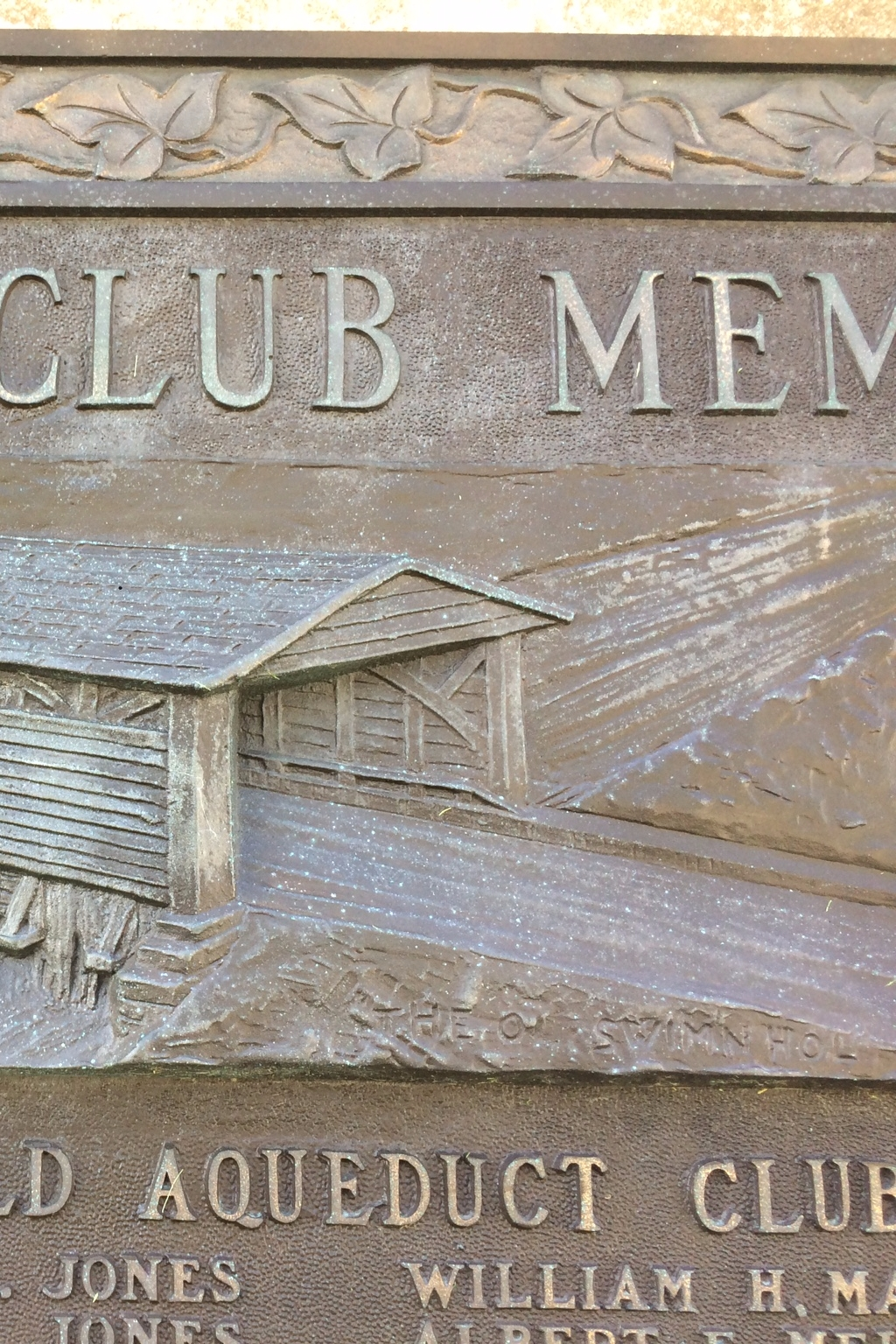 Old Aqueduct Club Memorial Marker
