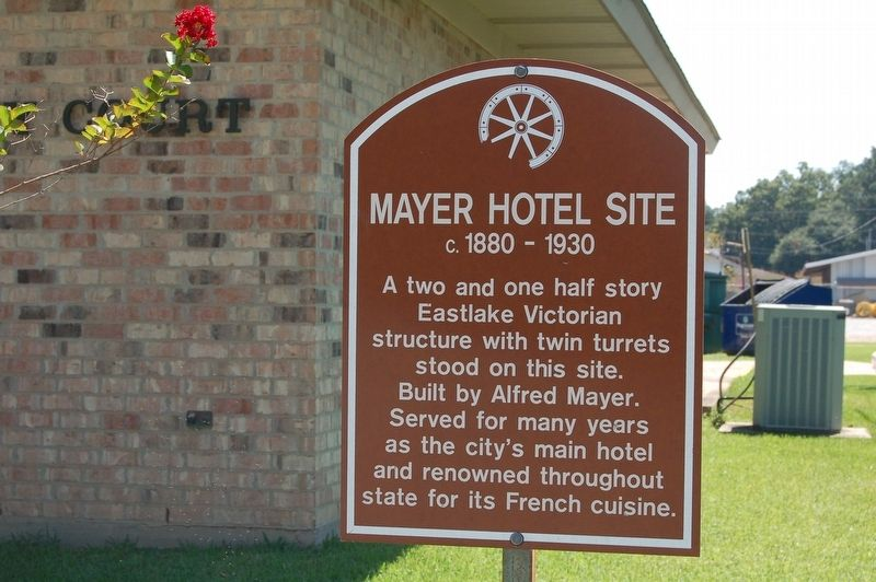 Mayer Hotel Site Marker image. Click for full size.