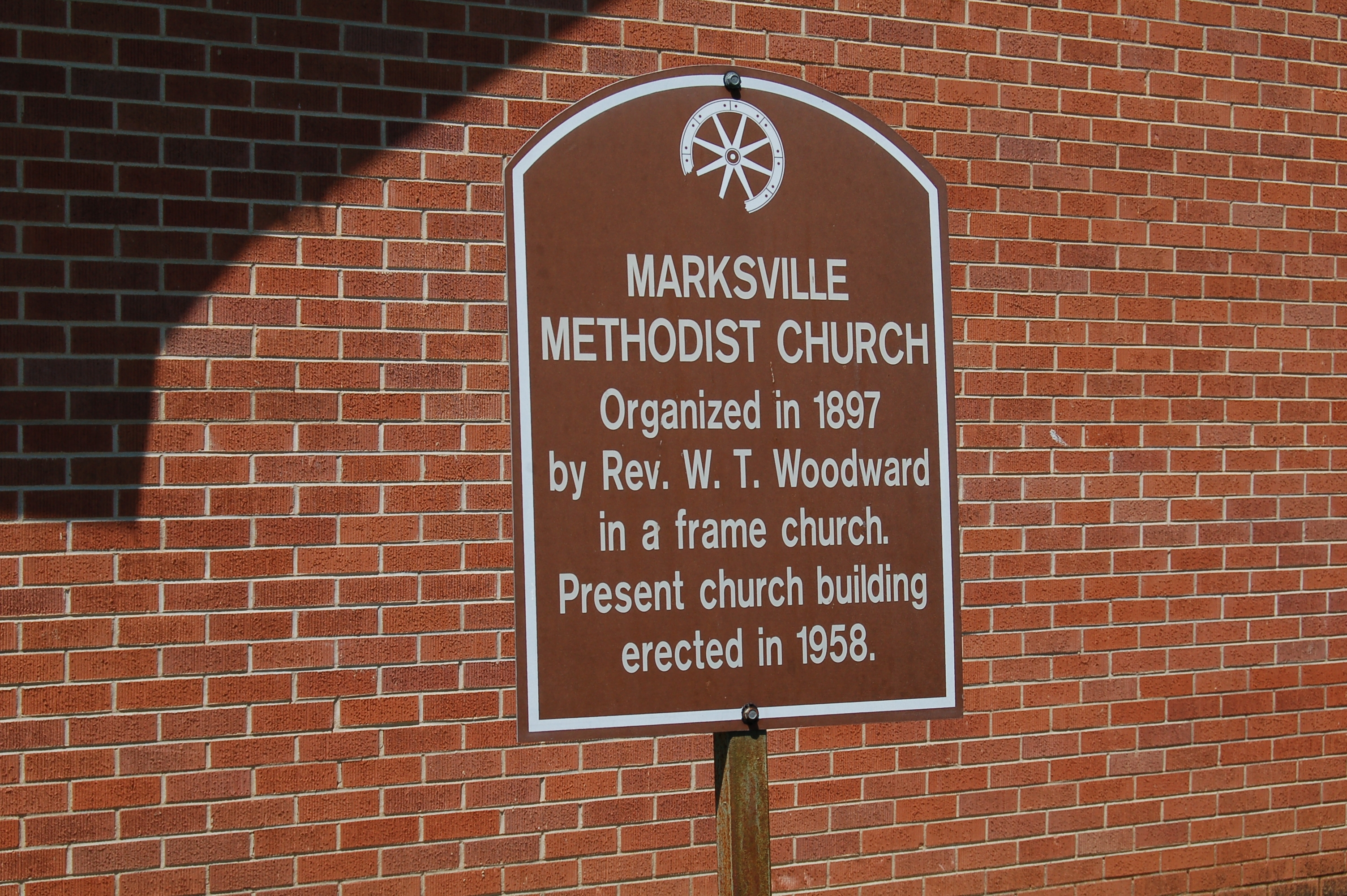 Marksville Methodist Church Marker