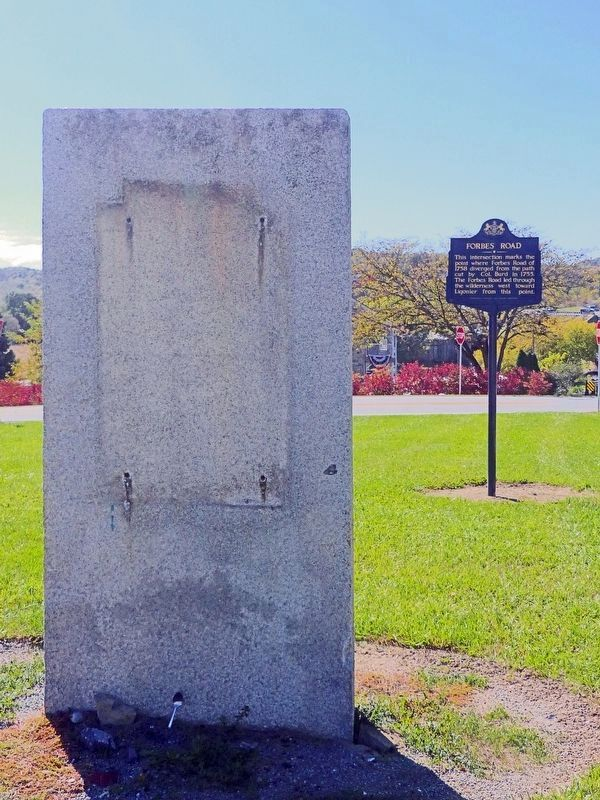 Forbes Road Marker Missing image. Click for full size.