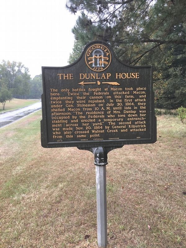 The Dunlap House Marker image. Click for full size.