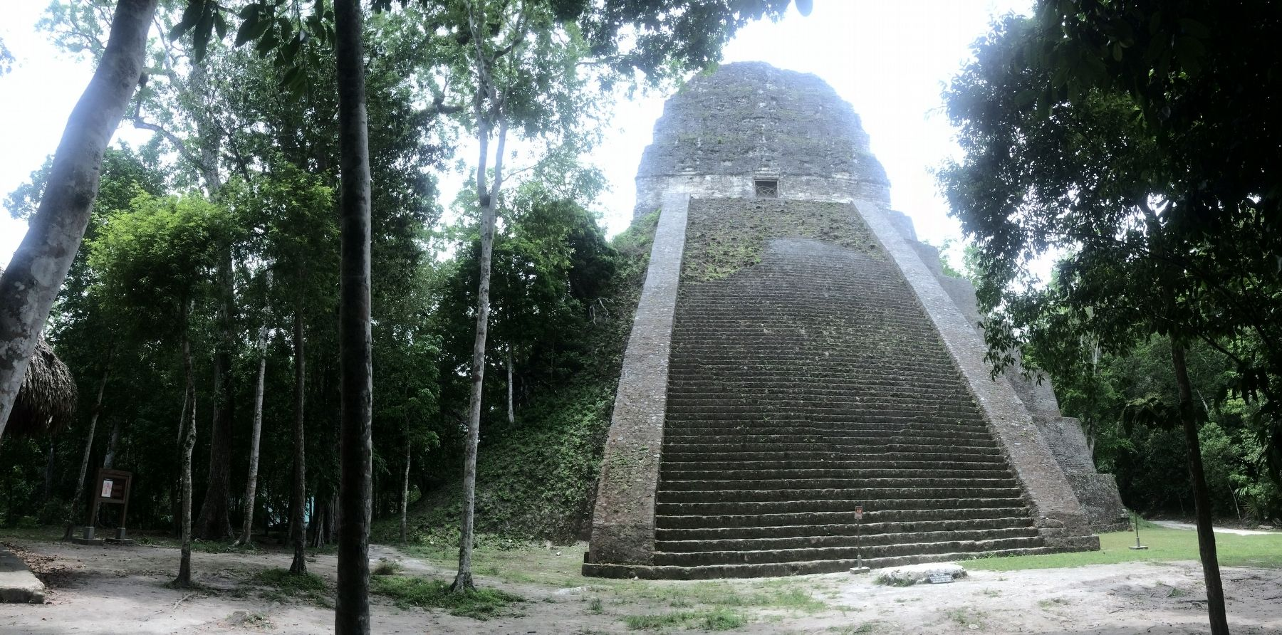 Temple V at Tikal and Marker image. Click for full size.
