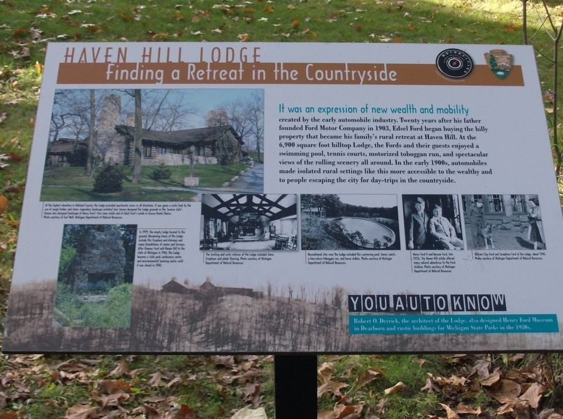 Haven Hill Lodge: Finding a Retreat in the Countryside Marker image. Click for full size.