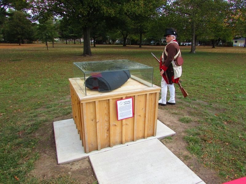 Colonial Soldier at the Red Bank Marker image. Click for full size.