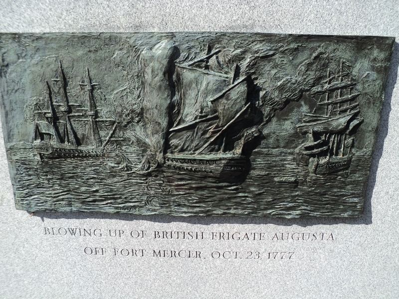 Destruction of the British Frigate Augusta. image. Click for full size.