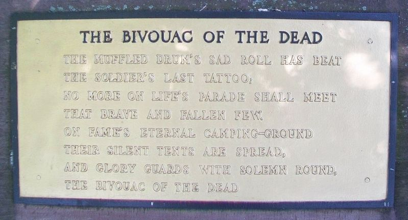 The Bivouac of the Dead Marker image. Click for full size.