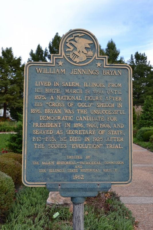 William Jennings Bryan Marker image. Click for full size.