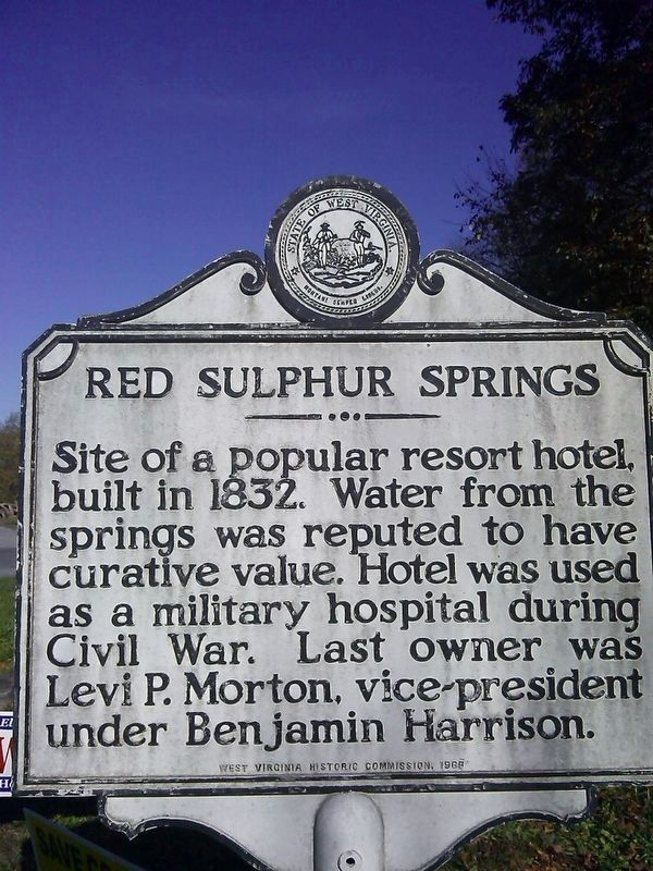Red Sulphur Springs Marker image. Click for full size.