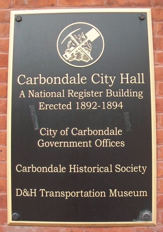 Carbondale City Hall Marker image. Click for full size.
