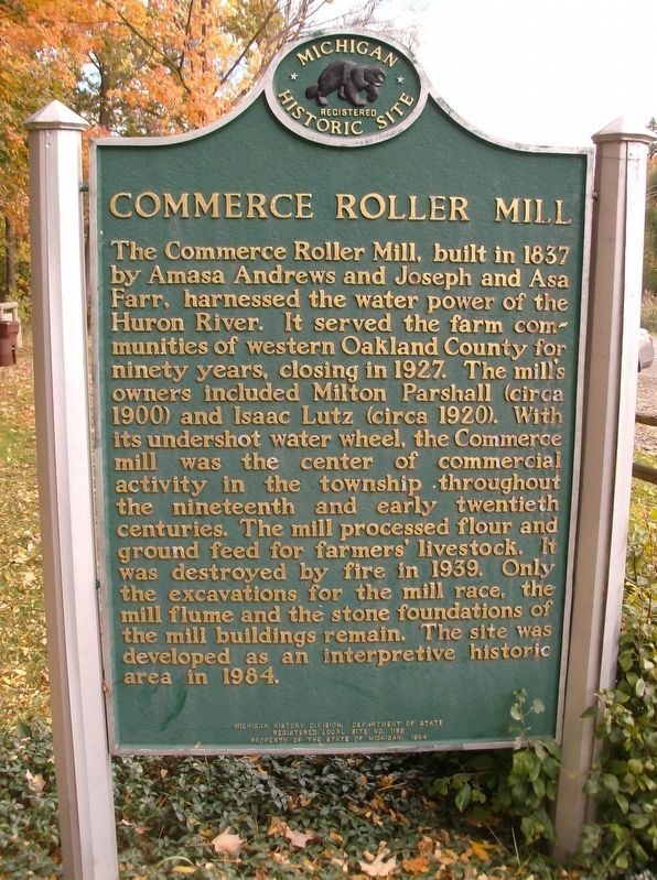 Commerce Roller Mill Marker image. Click for full size.