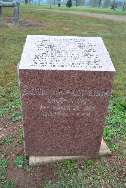 Battle of Pilot Knob — Shut-In Gap Marker image. Click for full size.