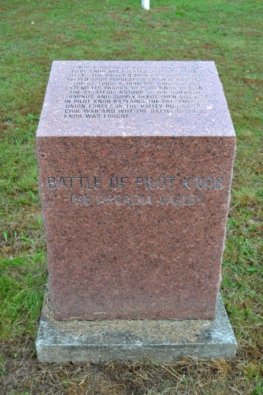 Battle of Pilot Knob — The Arcadia Valley Marker image. Click for full size.